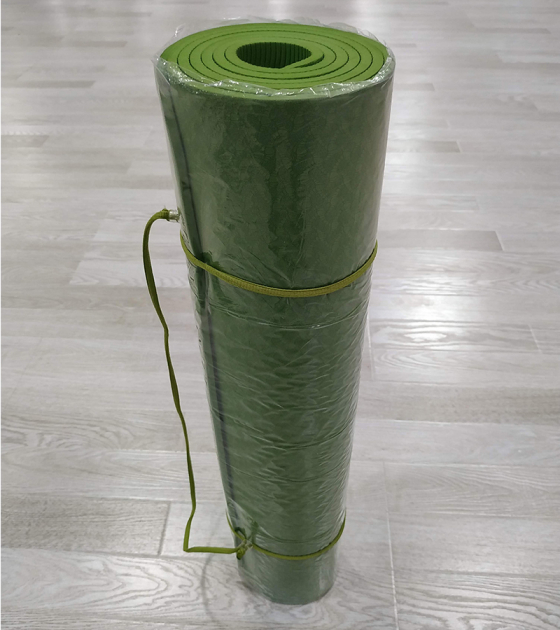 Коврик для фитнеса, зеленый