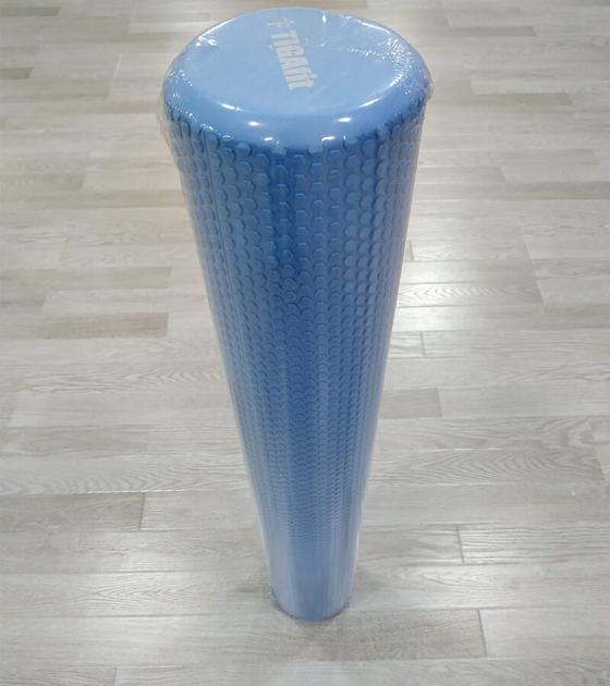 Ролик массажный для фитнеса 90 см, голубой