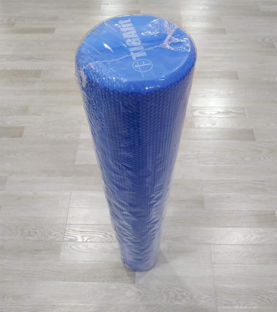 Ролик массажный для фитнеса 90 см, синий